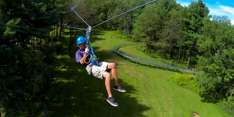 The Wisp Resort Mountain Park at Deep Creek Lake offers 3 canopy tour challenge adventures, the mountain coaster, geocaching, disc golf and more.