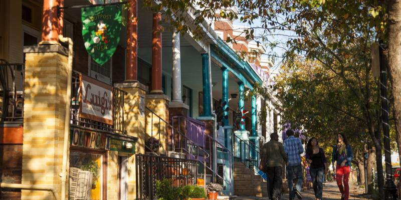 In the colorful Hampden neighborhood, the epicenter of hipster kitsch, you'll find original shops and an eccentric array of cafes mingling with the barber shops and businesses that keep this authentic, hardworking Baltimore neighborhood real.