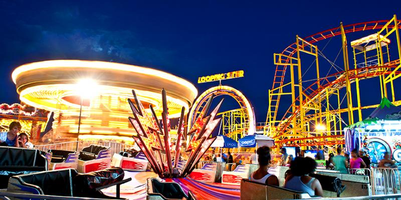 There's nothing quite like watching the waves roll in from on top of one of the rides along Ocean City's boardwalk.