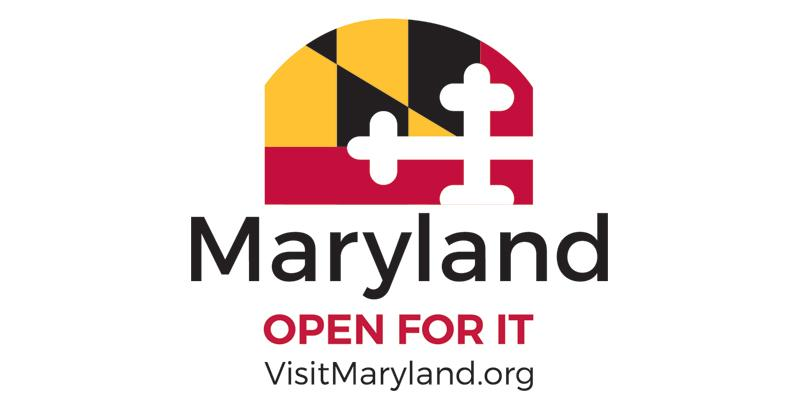"""Open For It"" Maryland's tourism ad campaign logo"