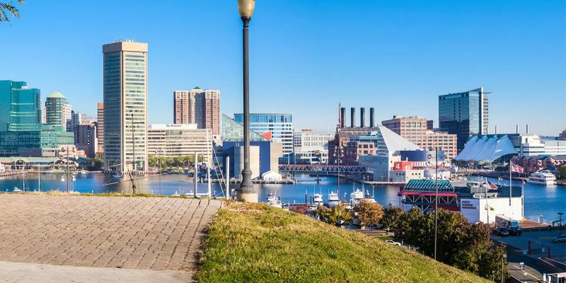 Head to Federal Hill Park for a gorgeous panorama of downtown Baltimore and the harbor.