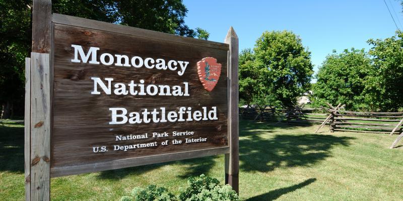 Monocacy Battlefield Sign