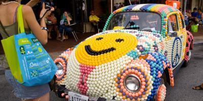 Car art pops up often at the art-tastic Artscape in Baltimore.