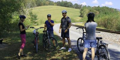 Bikers along GAP trail