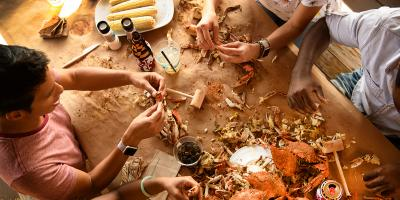 Enjoy a crab feast