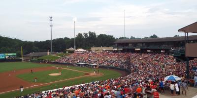 Baysox baseball game