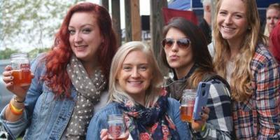 women at beer festival