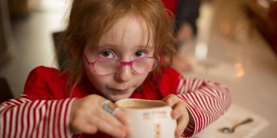 girl sipping cocoa