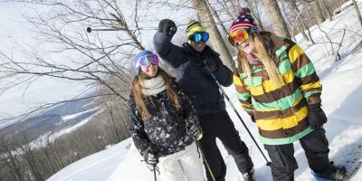 Skiers at Wisp