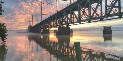 Sunrise at the Susquehanna River Bridge in Havre de Grace