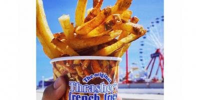 Thrashers Fries on the Boardwalk in Ocean City