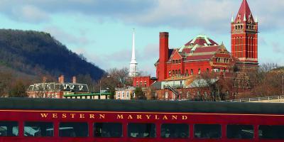 Red train in Cumberland