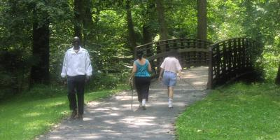Walkers on Trails in Maryland